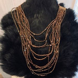 Beautiful Amber colored multi-strand necklace